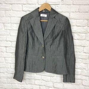 NWOT Linea Tesini Blazer Dark Gray Size 10
